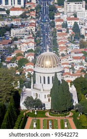 View to the Bahai center in Haifa north Israel