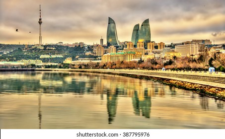 View of Baku by the Caspian Sea - Azerbaijan