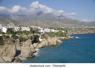A view from Balcon de Europa, Nerja, Malaga province, Andalusia, Spain