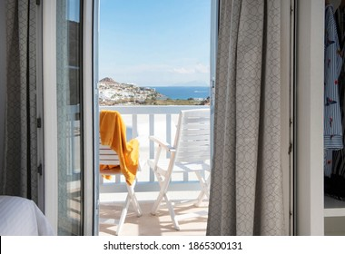 View of a balcony in Mediterranean Sea