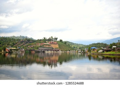 View of Ban Rak thai village, Chinese Kuomintang refugees who escaped the communists in 1949, A Chinese settlement in northern Thailand.