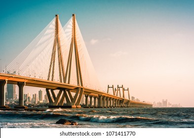 View of Bandra Worli Sea link, Mumbai
