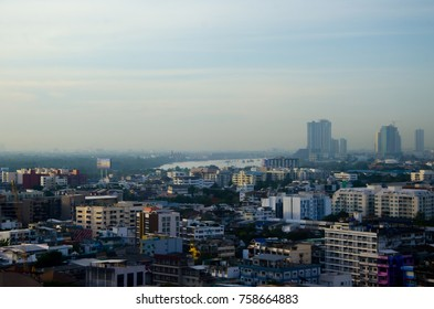 View of Bangkok City in the morning