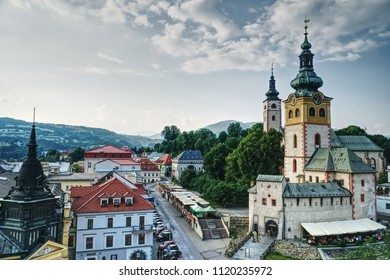 View of Banska Bystrica from Leaning Tower, Slovakia