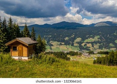View from the Baranci refuge near the village of San Candido, Trentino Alto Adige - Italy