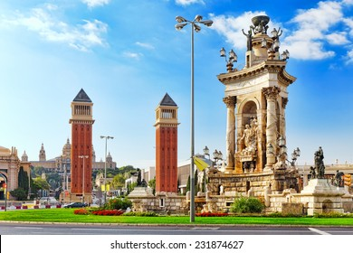 View in Barcelona on Placa De Espanya( Square of Spain),Spain.