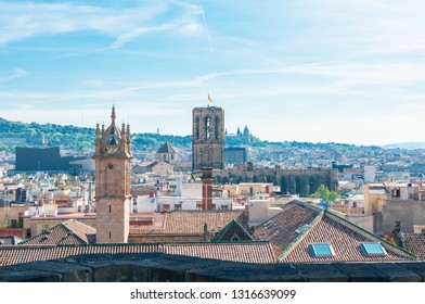 View to Barcelona from the top of the Cathedral of the Holy Cross and Saint Eulalia.