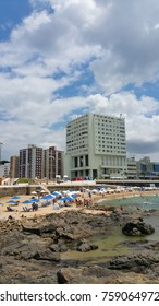 View of the Barra Lighthouse in Salvador Bahia Brazil (vertical