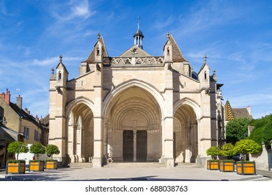 View of Basilica Notre Dame - Beaune, France