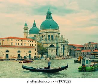 View of basilica Santa Maria della Salute, Venice, Italy