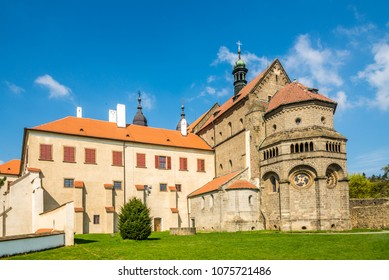 View at the Basilica of St.Procopius in Trebic - Czech republic, Moravia