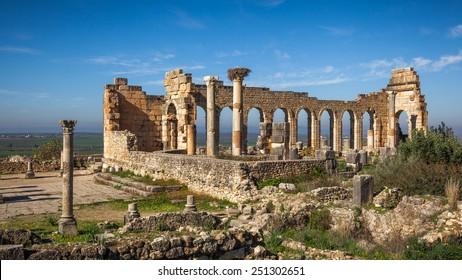 View of the Basilica, Volubilis, Morocco