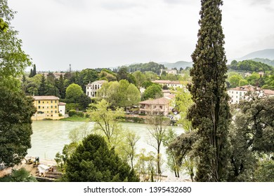View from Bassano del Grappa on the Brenta river, Vicenza - Italy