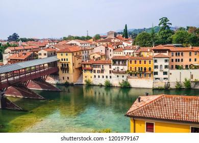 View of Bassano del Grappa, Veneto region, Italy. Travel destination