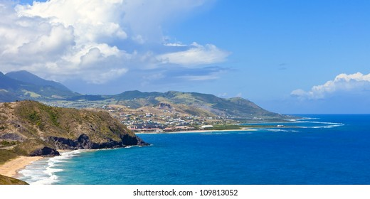 view of basseterre and st kitts, tropical resort