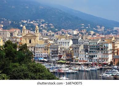 view of Bastia, Corsica, France