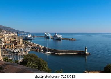 The view of Bastia Port, Corse, France