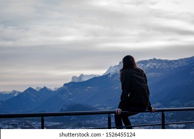 View from Bastille Grenoble French alps