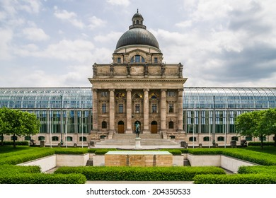 View of the Bavarian State Chancellery in Bavarian Capital Munich