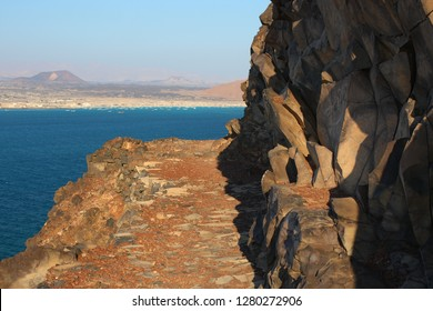 View of the bay of Bir Ali from a mountain, yemen