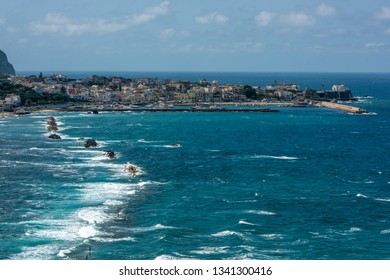 View of the bay and Forio. Ischia, Italy