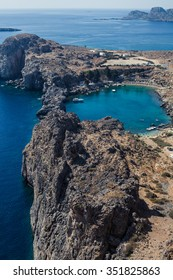 View of the Bay of Lindos