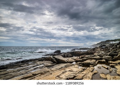 The view of a bay shore in Cape Elizabeth, Maine