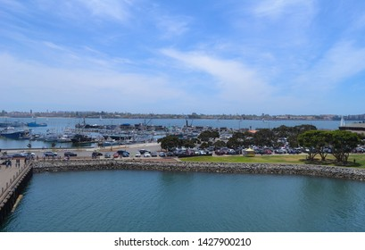 view of bay from USS Midway in San Diego California