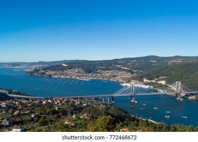 View of bay of Vigo