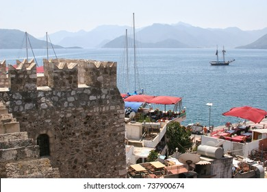 view of the bay from the walls of the old fortress