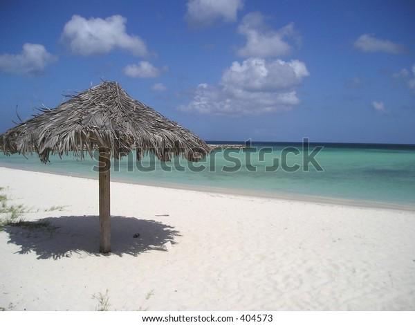 A view of the beach in Aruba