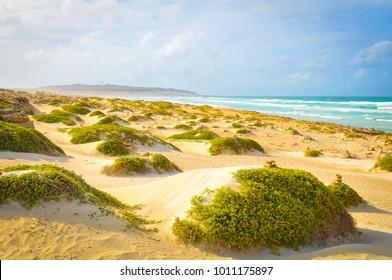 Vue sur la plage de Boa Vista, Cap Vert
