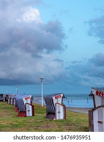 view from beach chair, travel norderney germany