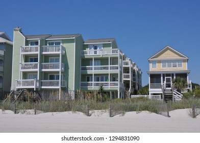 View of beach development from the shoreline.
