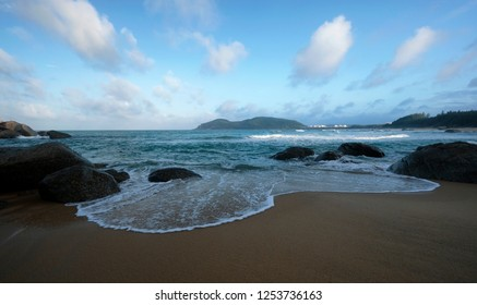 View of beach in Dung Quat beach - Vietnam