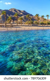 View of a beach in Eilat, Israel