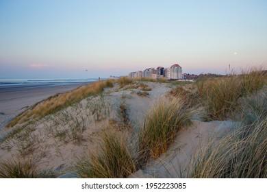 View to the beach in Knokke, Belgium