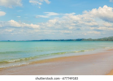 view of a beach in the south of Thailand.