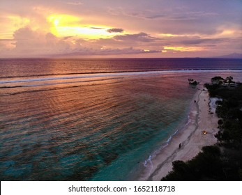 View of a beach at sunset