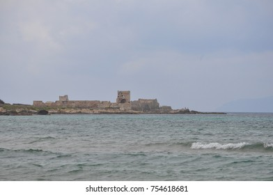 View of the beach in Trapani, Italy