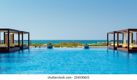 View from a beachfront property in Abu Dhabi