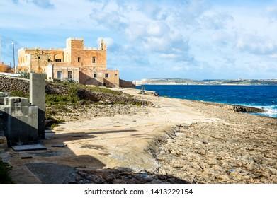 view of a beautiful beach in malta