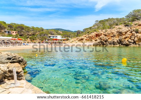 View Beautiful Cala Carbo Bay Emerald Stock Photo (Edit Now