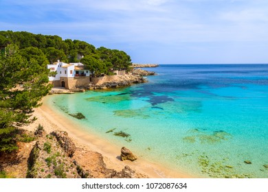 View of beautiful Cala Gat bay with beach, Majorca island, Spain