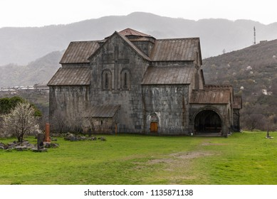 View of the beautiful cathedral of ancient armenian monastery Akhtala