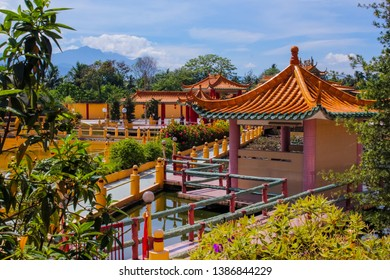 View of a beautiful chinese temple in Seen Hock Yeen Confucius Temple in Chemor, Perak, Malaysia