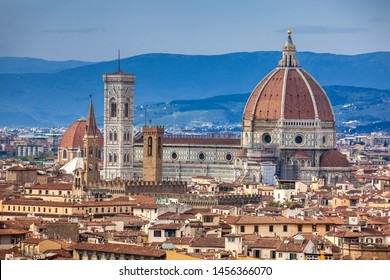View of the beautiful city of Florence from Michelangelo Square