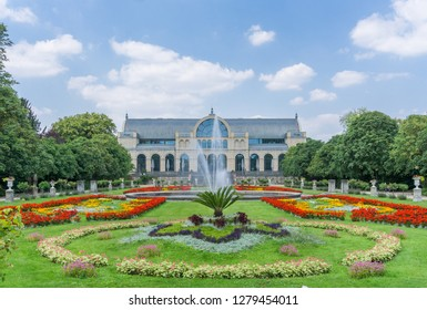 View of the beautiful colorful public accessible botanical garden named Flora in Germany Cologne 2018.