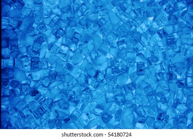 A view of a beautiful decorative blue colored crystal glass