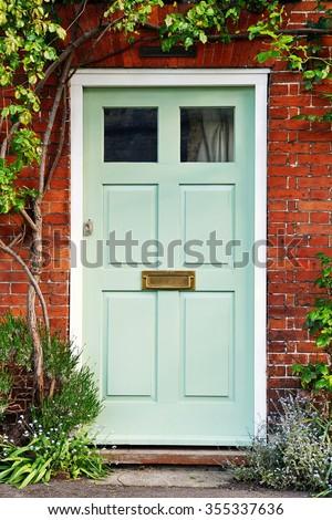 View Beautiful Front Door Red Brick Stock Photo Edit Now 355337636